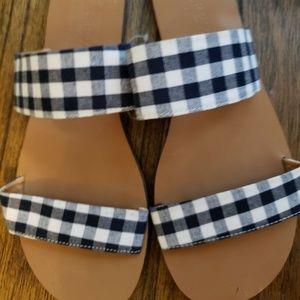 J. Crew Boardwalk Slides Flip Flops Sandals Sz 6